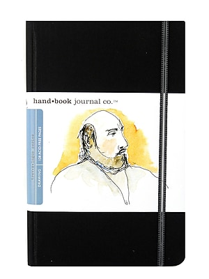 Hand Book Journal Co. Travelogue Drawing Journals 5 1/2 in. x 8 1/4 in. portrait ivory black [Pack of 2]