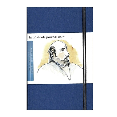 Hand Book Journal Co. Travelogue Drawing Journals 5 1/2 in. x 8 1/4 in. portrait ultramarine blue [Pack of 2]