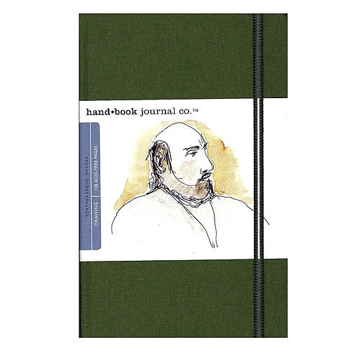 Hand Book Journal Co. Travelogue Drawing Journals 5 1/2 in. x 8 1/4 in. portrait cadmium green [Pack of 2]
