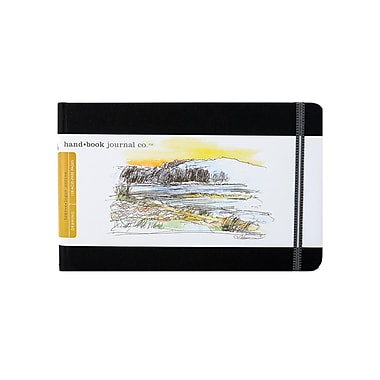 Hand Book Journal Co. Travelogue Drawing Journals 5 1/2 in. x 8 1/4 in. landscape ivory black [Pack of 2]