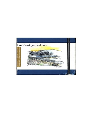 Hand Book Journal Co. Travelogue Drawing Journals 3 1/2 in. x 5 1/2 in. landscape ultramarine blue