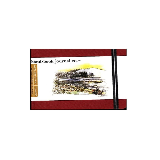 Hand Book Journal Co. Travelogue Drawing Journals 3 1/2 in. x 5 1/2 in. landscape vermilion red