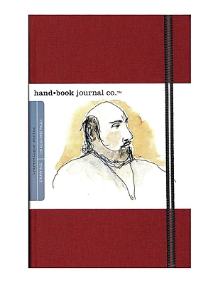 Hand Book Journal Co. Travelogue Drawing Journals 5 1/2 in. x 8 1/4 in. portrait vermilion red [Pack of 2]
