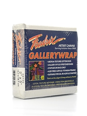 Fredrix Gallerywrap Stretched Canvas 5 in. x 5 in. each [Pack of 2]