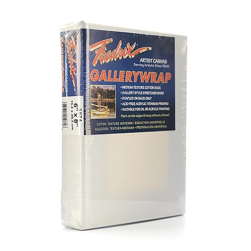 Fredrix Gallerywrap Stretched Canvas 6 in. x 8 in. each