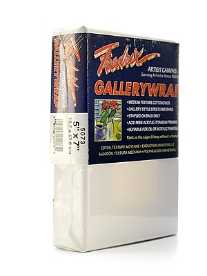 Fredrix Gallerywrap Stretched Canvas 5 in. x 7 in. each