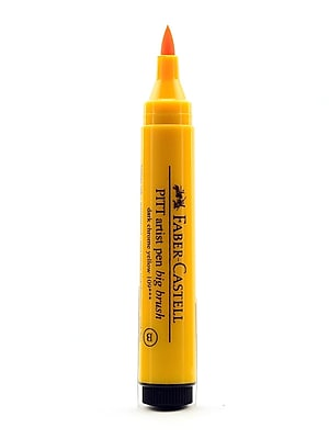 Faber-Castell Pitt Big Brush Artist Pens dark chrome yellow 109 [Pack of 4]