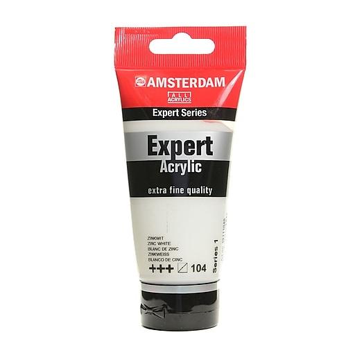 Amsterdam Expert Acrylic Tubes zinc white 75 ml [Pack of 3]