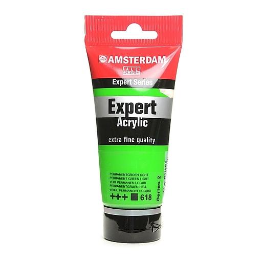 Amsterdam Expert Acrylic Tubes permanent green light 75 ml [Pack of 3]