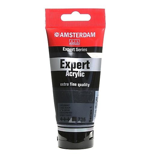 Amsterdam Expert Acrylic Tubes oxide black 75 ml [Pack of 3]