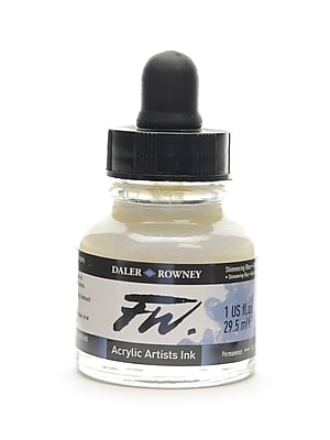 Daler-Rowney FW Pearlescent And Shimmering Liquid Acrylic, Shimmering Blue, 1oz, 2/Pk