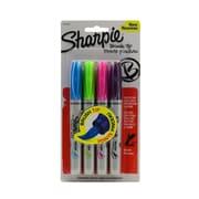 Sharpie Brush Tip Permanent Marker Sets assorted set of 4 [Pack of 3]