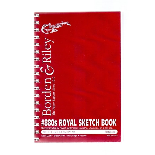 Borden  and  Riley #880 Royal Sketch Paper 6 in. x 9 in. pad 60 sheets [Pack of 2]