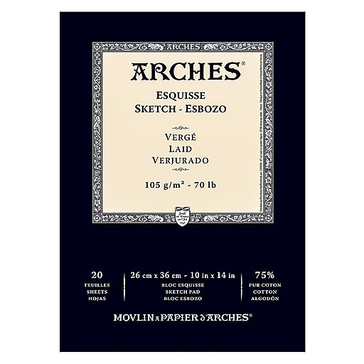 Arches Sketch Pads 10 in. x 14 in. 70 lb.