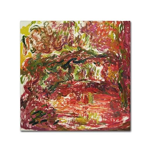 Trademark Fine Art Monet 'The Japanese Bridge at Giverny II'  35 x 35 (BL0797-C3535GG)