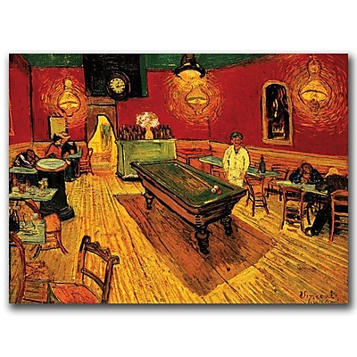 Trademark Fine Art van Gogh 'The Night Cafe' 24 x 32 (M234-C2432GG)