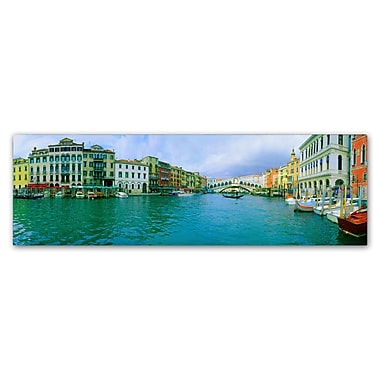 Trademark Fine Art John Xiong 'Venice Waterways' 10 x 32 (ALI0644-C1032GG)