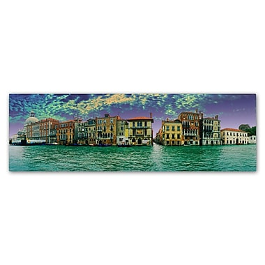 Trademark Fine Art John Xiong 'Buildings of Venice' 8 x 24 (ALI0646-C824GG)