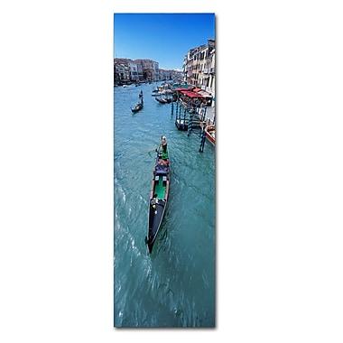 Trademark Fine Art John Xiong 'Gondola Canal' 10 x 32 (ALI0654-C1032GG)