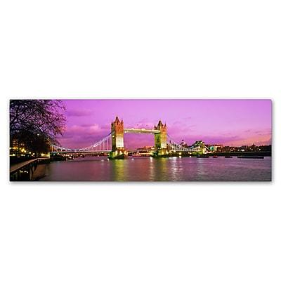 Trademark Fine Art John Xiong 'London Bridge' 8 x 24 (ALI0655-C824GG)