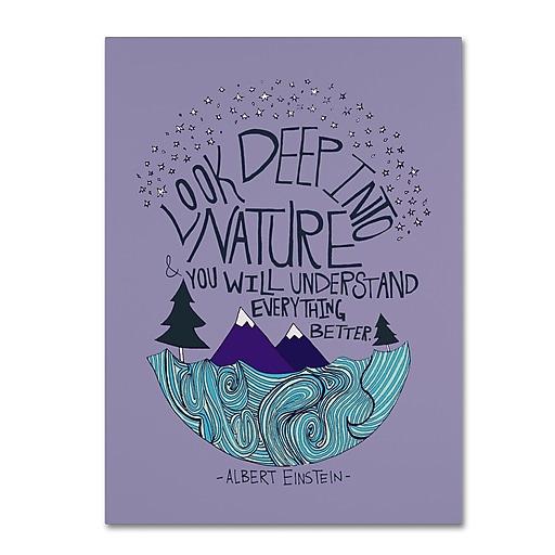 Trademark Fine Art Leah Flores 'Albert Einstein - Nature'  14 x 19 (ALI0661-C1419GG)