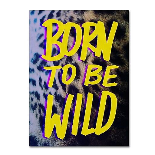 Trademark Fine Art Leah Flores 'Born To Be Wild'  14 x 19 (ALI0663-C1419GG)