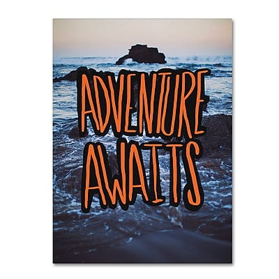 Trademark Fine Art Leah Flores 'Adventure Awaits' 24 x 32 (ALI0681-C2432GG)