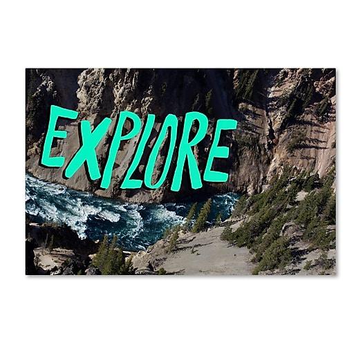 Trademark Fine Art Leah Flores 'Explore River'  12 x 19 (ALI0685-C1219GG)