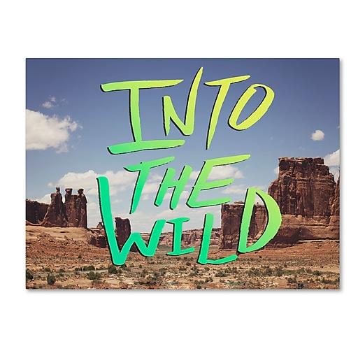 Trademark Fine Art Leah Flores 'Into the Wild, Moab'  14 x 19 (ALI0693-C1419GG)