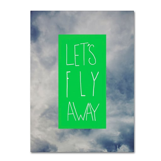 Trademark Fine Art Leah Flores 'Let's Fly Away'  24 x 32 (ALI0697-C2432GG)