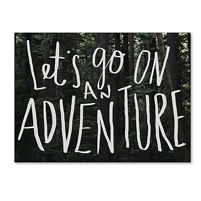Trademark Fine Art Leah Flores 'Let's Go On An Adventure' 18 x 24 (ALI0699-C1824GG)