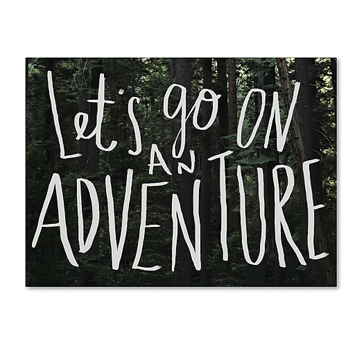 Trademark Fine Art Leah Flores 'Let's Go On An Adventure'  24 x 32 (ALI0699-C2432GG)