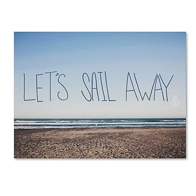Trademark Fine Art Leah Flores 'Let's Sail Away' 14 x 19 (ALI0702-C1419GG)