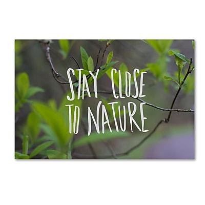 Trademark Fine Art Leah Flores 'Nature' 12 x 19 (ALI0703-C1219GG)