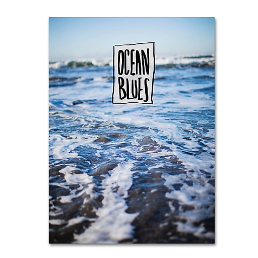 Trademark Fine Art Leah Flores 'Ocean Blues'  35 x 47 (ALI0705-C3547GG)