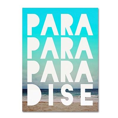 Trademark Fine Art Leah Flores 'Paradise' 18 x 24 (ALI0707-C1824GG)