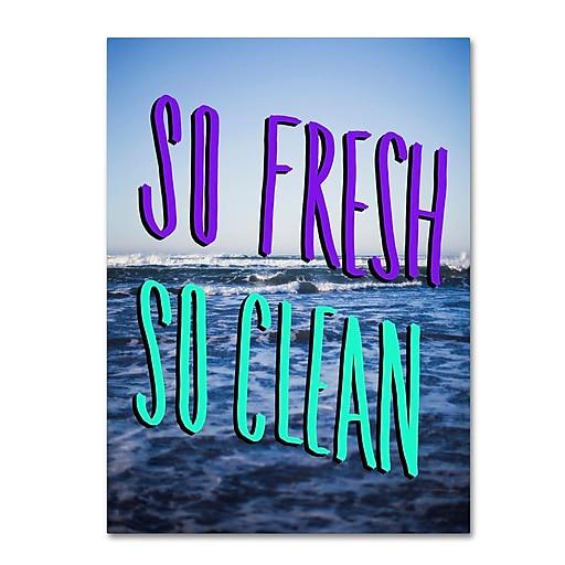 Trademark Fine Art Leah Flores 'So Fresh So Clean'  18 x 24 (ALI0708-C1824GG)