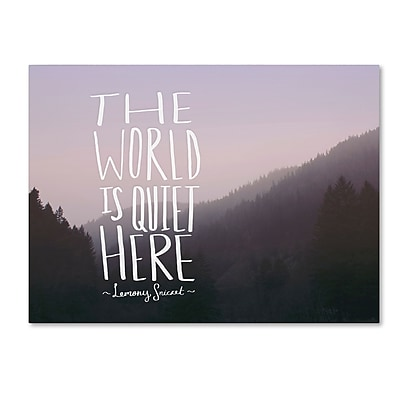 Trademark Fine Art Leah Flores 'The World is Quiet Here' 24 x 32 (ALI0710-C2432GG)