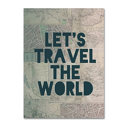 Trademark Fine Art Leah Flores 'Travel the World' 35 x 47 (ALI0712-C3547GG)
