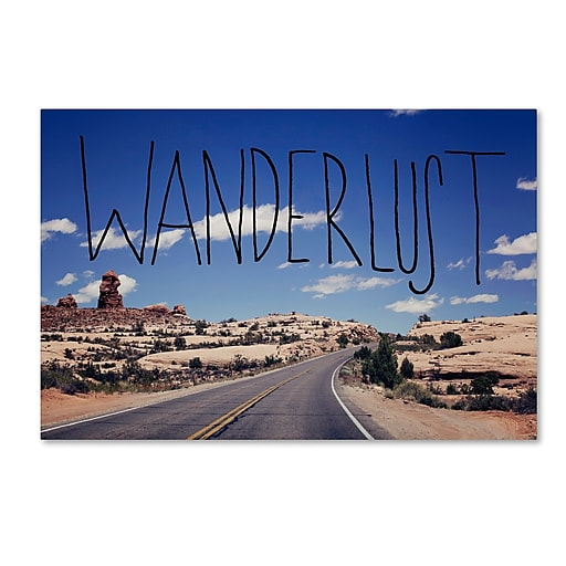 Trademark Fine Art Leah Flores 'Wanderlust Road'  30 x 47 (ALI0714-C3047GG)