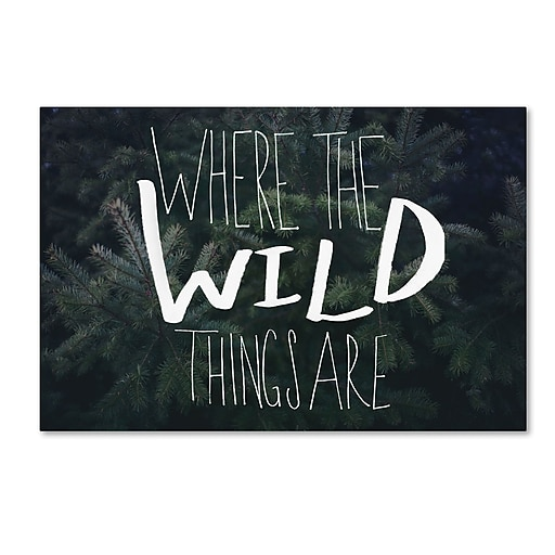 Trademark Fine Art Leah Flores 'Where the Wild Things Are'  12 x 19 (ALI0715-C1219GG)