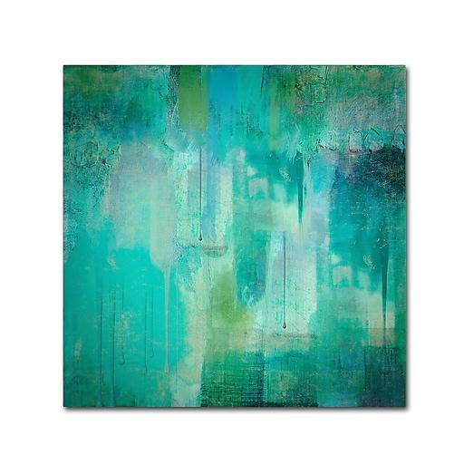 Trademark Fine Art Color Bakery 'Aqua Circumstance'  18 x 18 (ALI0718-C1818GG)