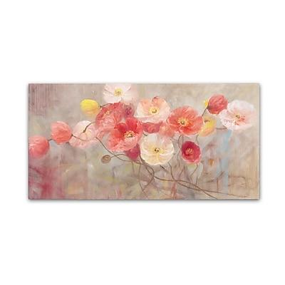 Trademark Fine Art Li Bo 'Wild Poppies I' 24 x 47 (ALI0749-C2447GG)