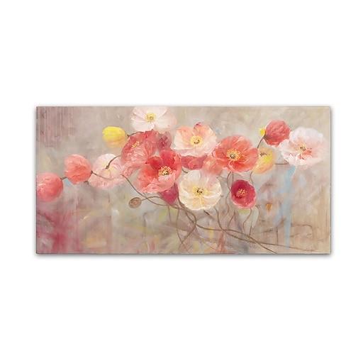Trademark Fine Art Li Bo 'Wild Poppies I'  12 x 24 (ALI0749-C1224GG)