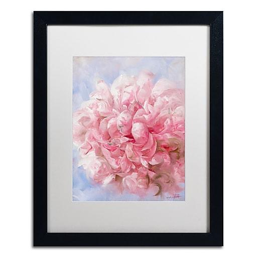 Trademark Fine Art Li Bo 'Pink Peonie I'  16 x 20 (ALI0756-B1620MF)