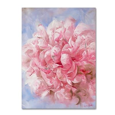 Trademark Fine Art Li Bo 'Pink Peonie I' 18 x 24 (ALI0756-C1824GG)