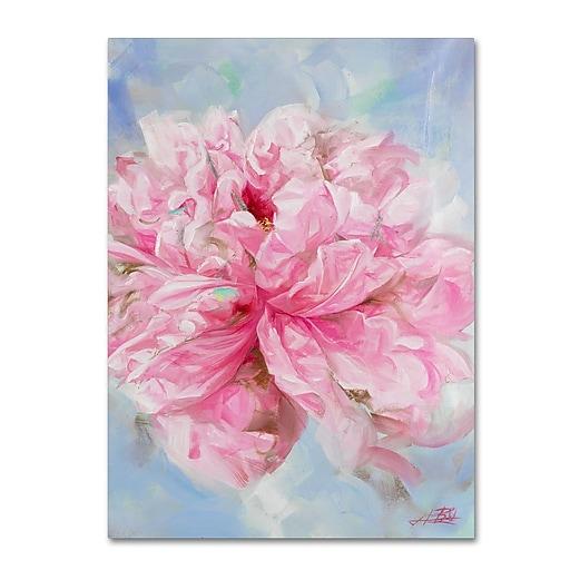 Trademark Fine Art Li Bo 'Pink Peonie II'  18 x 24 (ALI0757-C1824GG)
