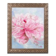 "Trademark Global Li Bo 'Pink Peonie II' Ornate Framed Art 16""L x 20""W (ALI0757-G1620F)"