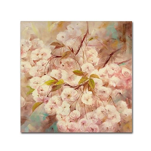 Trademark Fine Art Li Bo 'Rose Bush I'  24 x 24 (ALI0758-C2424GG)
