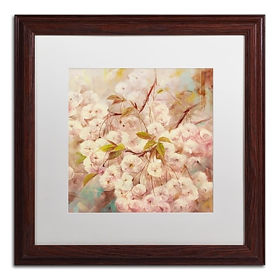 Trademark Fine Art Li Bo 'Rose Bush I' 16 x 16 (ALI0758-W1616MF)